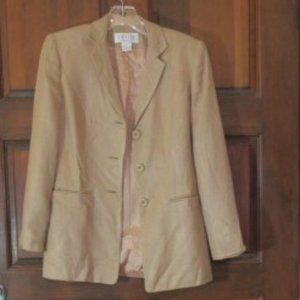 Tan Weave Rayon Jacket PETITE SOPHISTICATE 2P